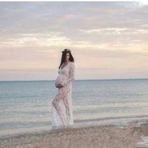Gorgeous White lace long sleeve dress